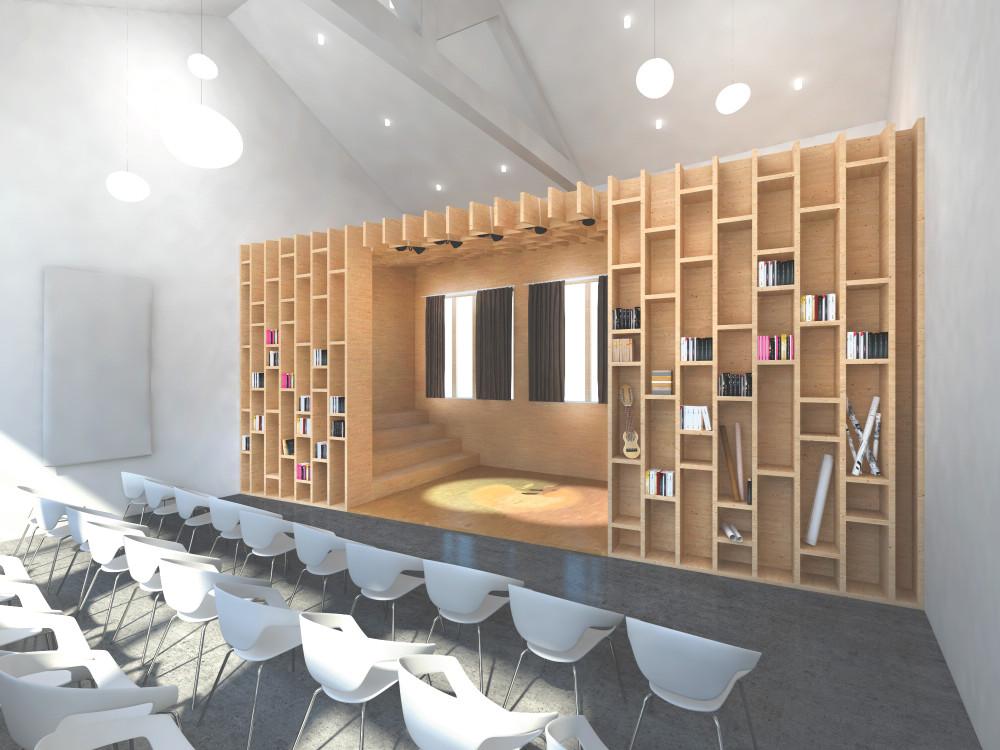 Salle polyvalente configuration conférence/débat
