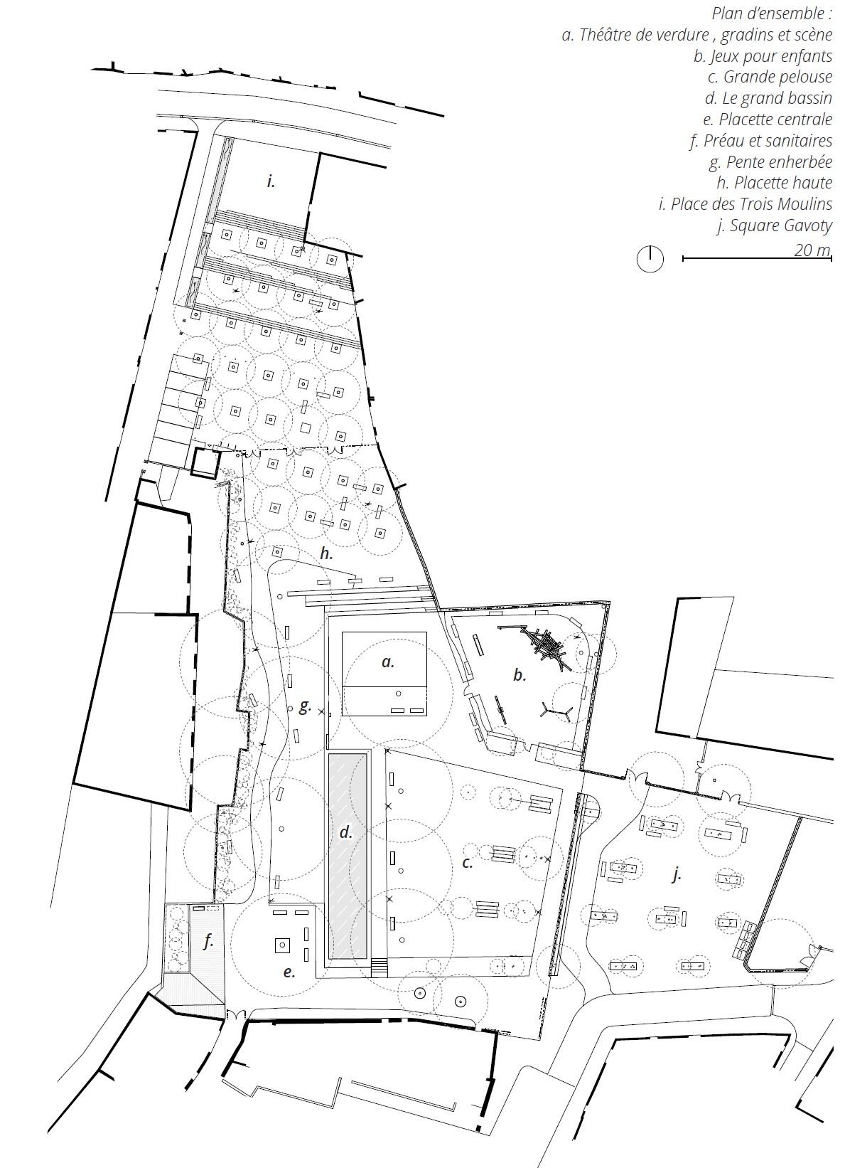 Plan de masse Jardin du Gaou_Brignoles