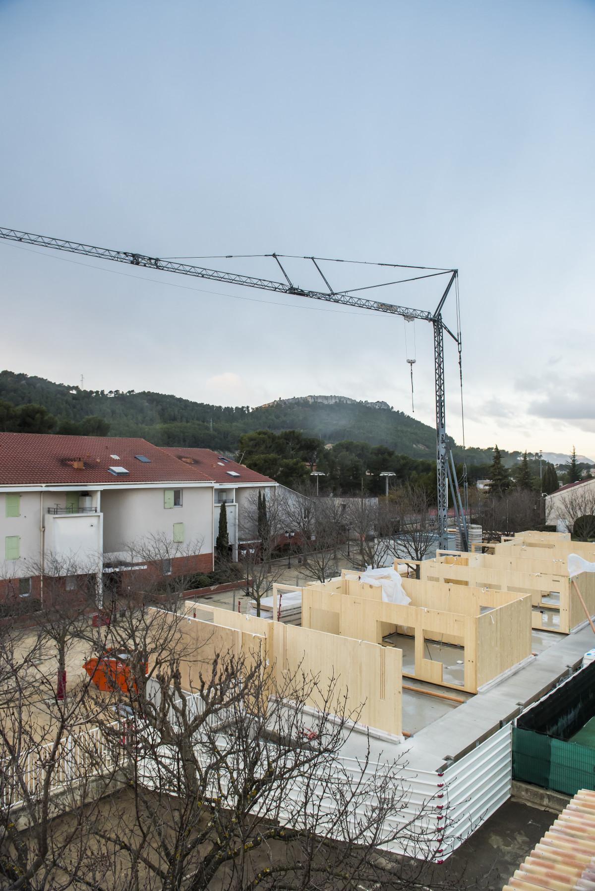 Suivi de chantier crèche Roquefort la Bédoule. PLO Architecture. Janvier 2018 Roquefort la Bédoule.
