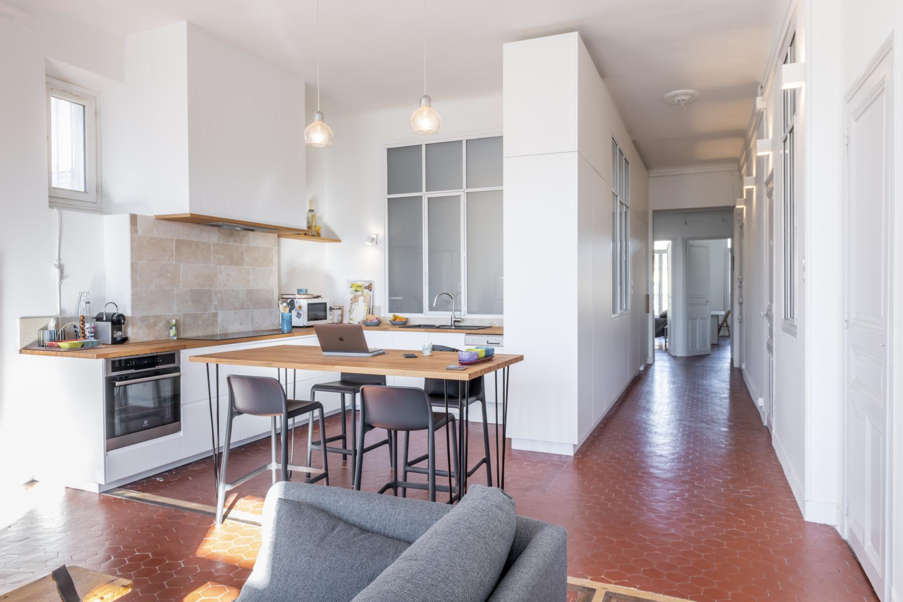 Séjour/cuisine appartement Bd Chave